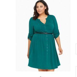Torrid Button Front Shirt Dress Size 4 (4X)